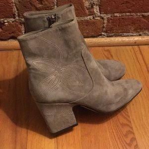 Marc Fisher suede boots with pretty stitching